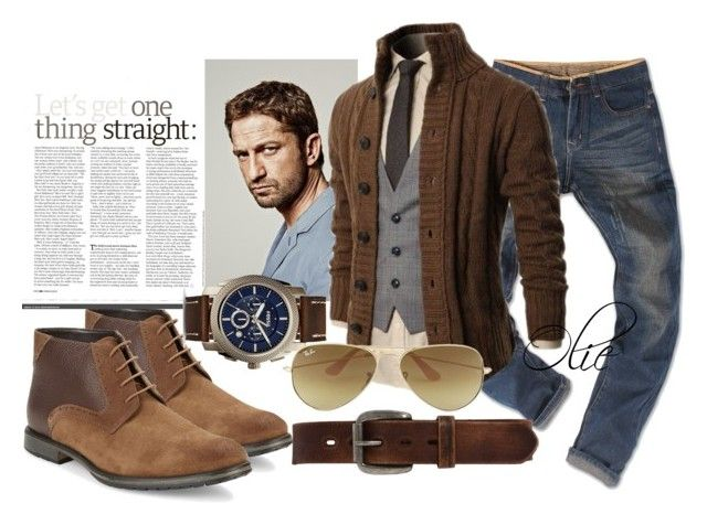 Timeless Man: look #3 by azanian-roots on Polyvore   featuring polyvore fashion style Bed|Stü BLACK BROWN 1826 FOSS Ray Ban