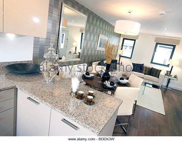 open plan kitchen lounge dinner stock image small ideas living room photos