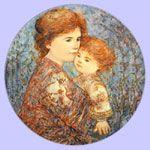 Edna Hibel plate