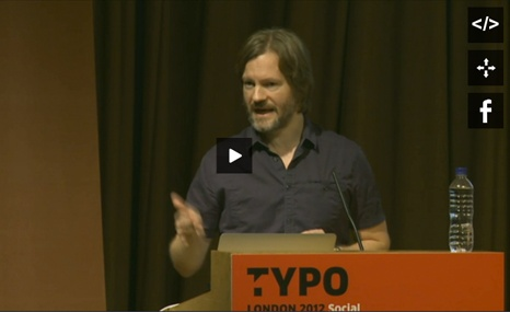 Hjalti Karlsson allowed the TYPO London 2012 visitors an amusing insight into studio life and the crazy projects of Karlssonwilker from New York. #typo12