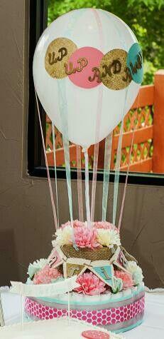 custom hot air balloon diaper cake i made for savannah 39 s baby shower diaper cakes pinterest. Black Bedroom Furniture Sets. Home Design Ideas