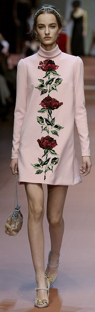Everything came up roses (and floral appliqué!) at Dolce & Gabbana Fall 2015