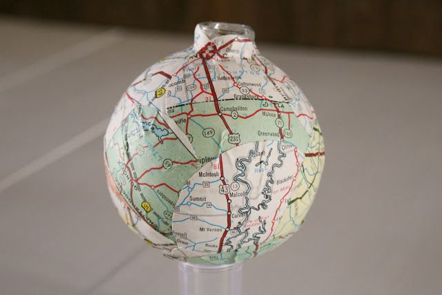 Decoupaged Ball Ornament {Tutorial}