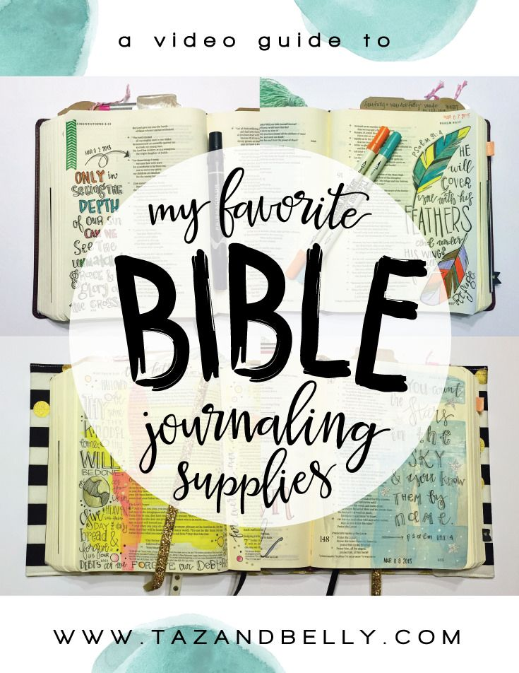 A video guide to my favorite art supplies for Bible Journaling (pens, markers, paint, washi and scrapbooking embellishments)