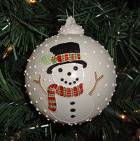 FREE SHIPPING WORLDWIDE! http://robinharley.net/ Snowman Christmas Ornament Porcelain Collectible 2008 Robin Harley