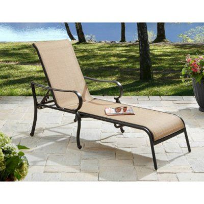 Outdoor Better Homes and Gardens Warrens Aluminum Chaise Lounge - 12B5C61D65804840896CAC7BE7F1AFF5