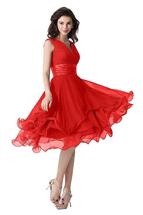 2b706ea1040 Tolles Kleid für Brautjungfern oder für die nächste Party. Chiffon  Abendkleid mit raffiniertem V-