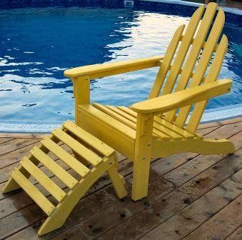 Prairie Leisure Deisign 1119 Adirondack Chair And Ottoman Set. Adirondack  Chair. Assembled Size:
