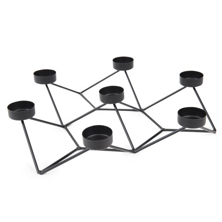 Bougeoir en métal H 7 cm CENTRAL PARK BLACK
