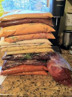 A to Z Family Tree: Freezer Meals #1: Includes 8 recipes and makes 15 bagged meals. Each meal consists of 4 individuals servings. Requires ZERO cooking prior to freezing; only prep! Meals included: 1. Creamy Ranch Chicken 2. Cilantro Black Bean Chicken 3. Spicy Coconut Chicken 4. Spicy Taco Chicken 5. Alfredo Chicken 6. Cranberry-Apple Pork Roast 7. Honey Mustard Pork Chops 8. Cinnamon Apple Pork Chops.