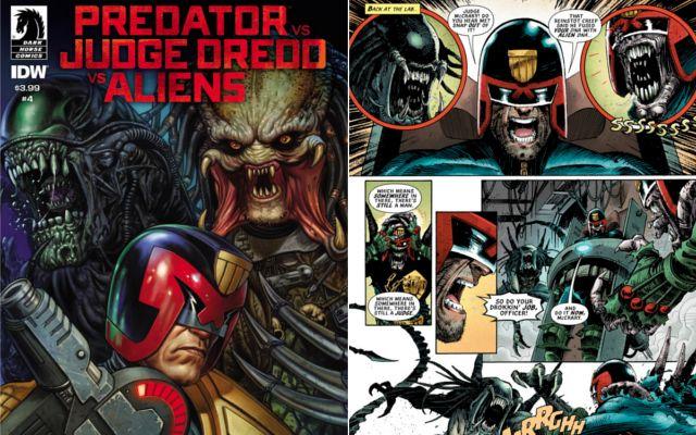 Predator comic Predator vs Judge Dredd vs Alien