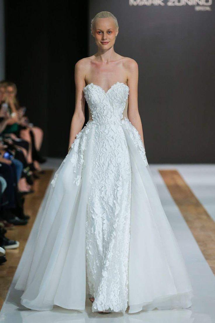 Lisa robertson in wedding dress - Hot Off The Runway These Sleek And Chic Mark Zunino Wedding Dresses Will Make You
