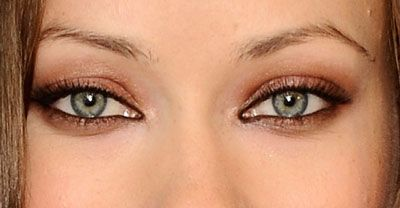 Copper tones make light green eyes and blue eyes POP,,,  Don't over do it under the eyes.