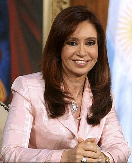 Cristina Fernández de Kirchner, the first elected female president of Argentina. -- http://en.wikipedia.org/wiki/Cristina_Fern%C3%A1ndez_de_Kirchner