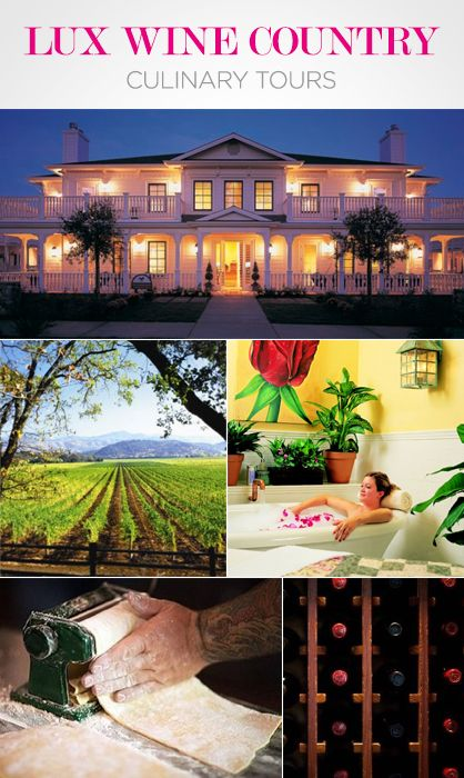 Wine country culinary retreats travel time pinterest for Best time to visit wine country