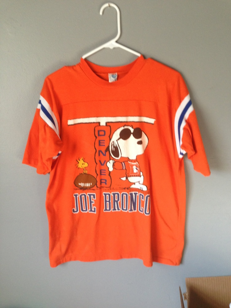 Vintage 1980's Snoopy Denver Broncos T Shirt NFL Football. $25.00, via Etsy.