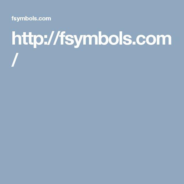 http://fsymbols.com/