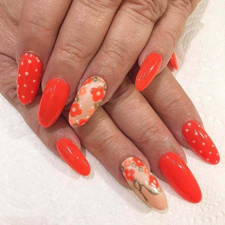 119 Best Images About Orange Nails On Pinterest