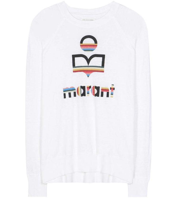 T-shirt en lin blanc imprimé Kaoa