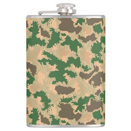 military camouflage hip flask - pattern sample design template diy cyo customize