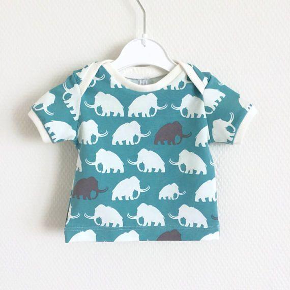 Baby t-shirt kinder truitje babyshirt. Groen katoen met