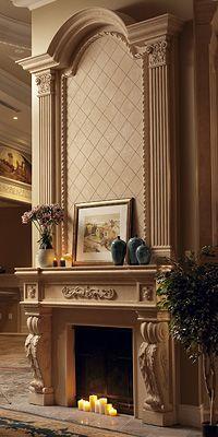 Beautiful fireplace and mantel!!