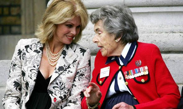 Countess Mountbatten and Joanna Lumley