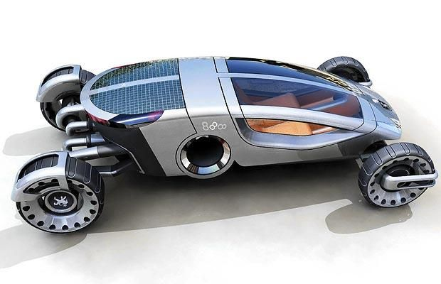 Peugeot asked designers to create a concept car for the cities of the future,   concentrating on environmental awareness, social harmony, interactive   mobility and economic efficiency.