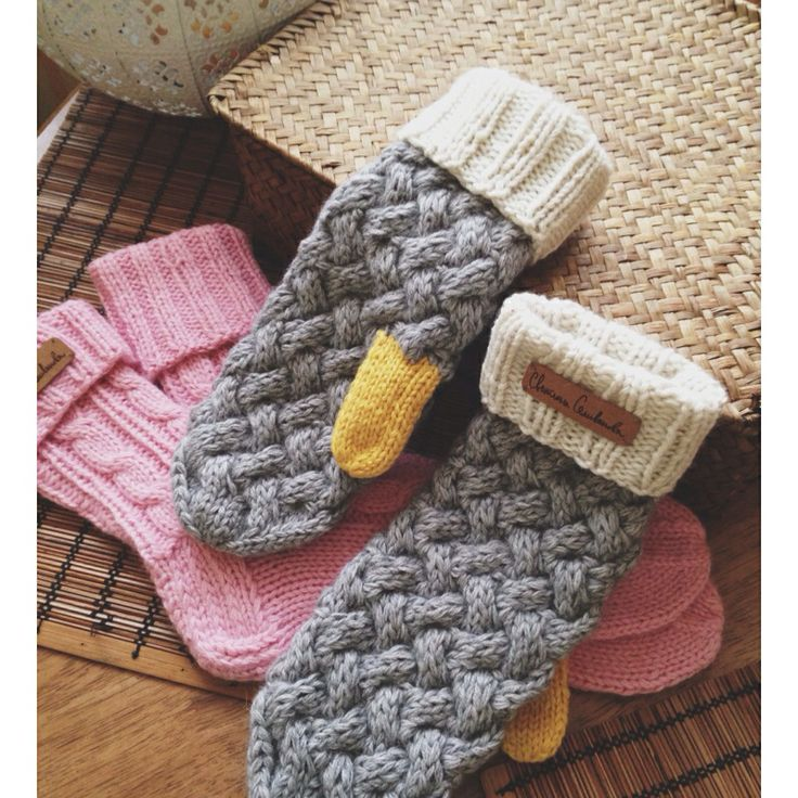Knitted socks and mittens