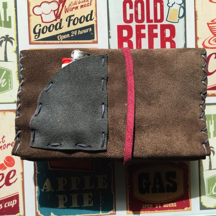 Handmade leather tobacco case. Tobacco pouch handmade from 100% genuine leather.  www.facebook.com/ecasies