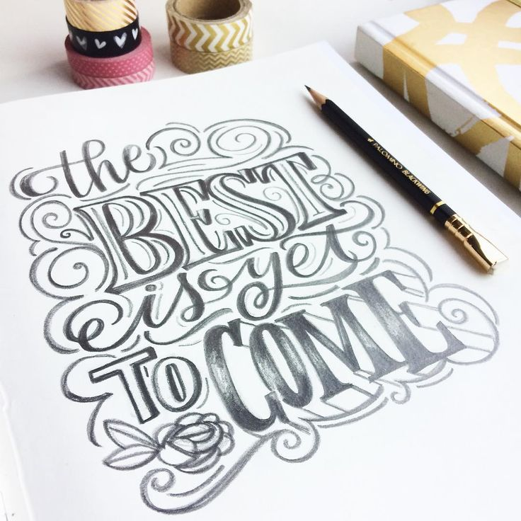 The best is yet to come! ✨ #magicwithpencil #handlettering #Lettering #letteringdaily #goodtype #letteringbymaia #blackwing #justpencil #bandofun #magicmaia