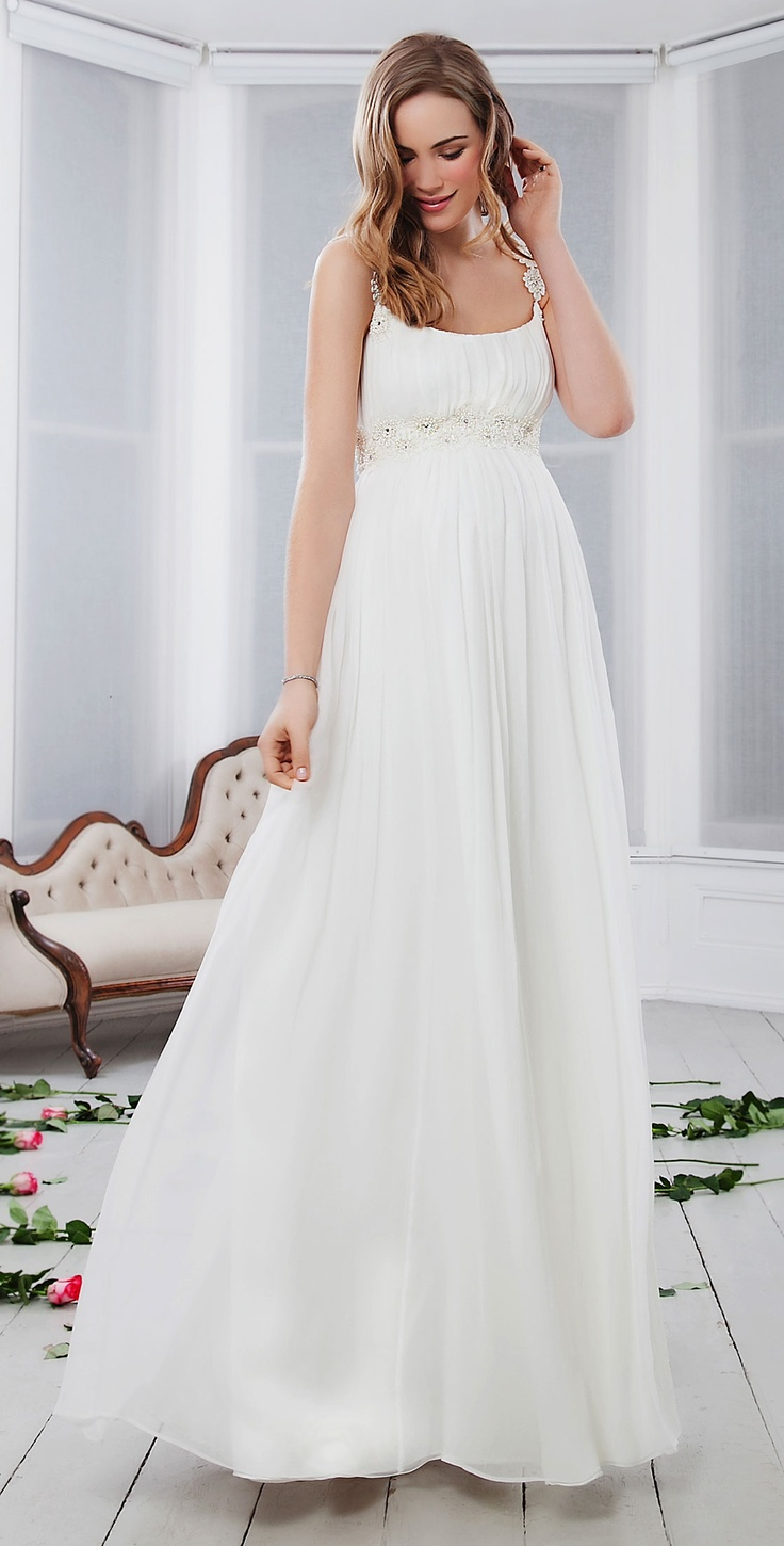 Prairie Daisy Silk Maternity Gown - Maternity Wedding Dresses, Evening Wear and Party Clothes by Tiffany Rose