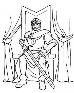 Excalibur coloring page 9