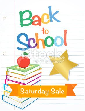 Back To School Fall Sale Lined Paper Royalty Free Stock Vector Art Illustration