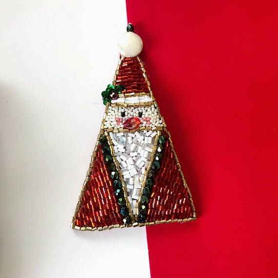 Santa Christmas broochChristmas decorNew Year pin