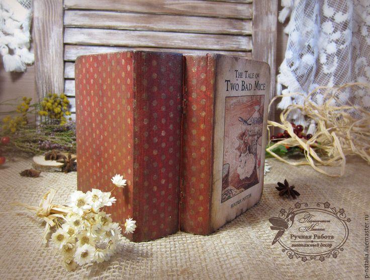 Купить Книга-шкатулка - комбинированный, книга шкатулка, шкатулка книга, шкатулка декупаж, Беатрис Поттер