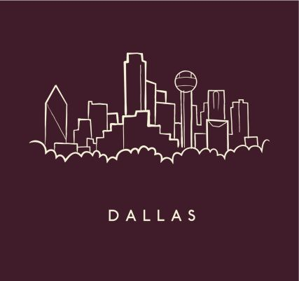 Dallas Skyline Sketch by Colin Klotzbach