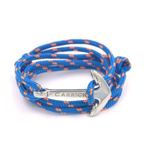 Pulsera náutica , Través en ancla plateada , Carrick Bracelets , 1