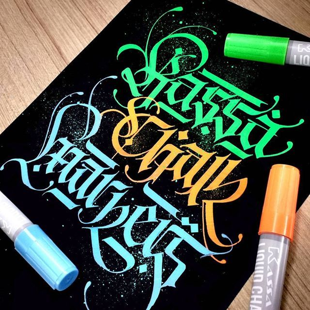 Check lalitmourya207's Instagram Calligraphy writing with Kassa Liquid Chalk markers it's really fentestic....@kassa ✍✌  Follow me @lalit.mourya207  #lalitmourya207 #kassamoment #calligraphymasters #typegang #handmadefont #goodtype #thedailytype #kassamarkers #chalkmarkers #chalk 1577507122353060307_2028273825