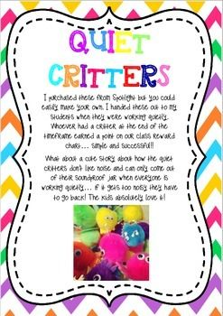 QUIET CRITTERS & QUIET SPRAY LABELS AND INSTRUCTIONS - TeachersPayTeachers.com
