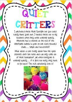 QUIET CRITTERS & QUIET SPRAY LABELS AND INSTRUCTIONS - TeachersPayTeachers.com