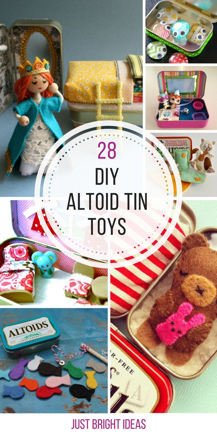 Loving these DIY Altoid tin toys - we need to eat some more mints!