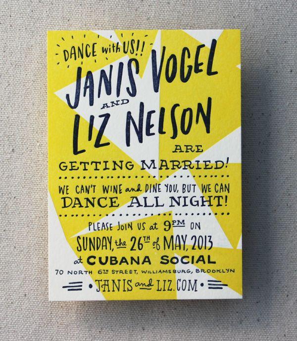 Liz+Janis3 600x688 Happy and Gay Letterpress Wedding Invitations