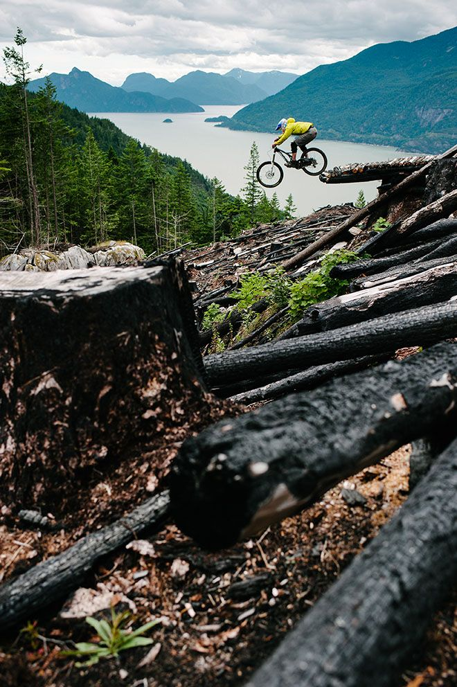 While everyone else was ripping it up at Whistler, Jeremy Norris spent all winter building this trail in the Howe Sound, B.C. Come the season of long daylight, he gets to reap the rewards of his labors.