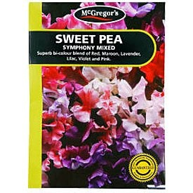 McGregors Sweet Pea Symphony Mixed Flower Seeds