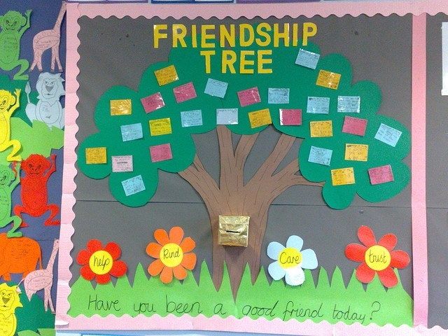 1000 images about friendship tree bulletin board on for Family display board ideas