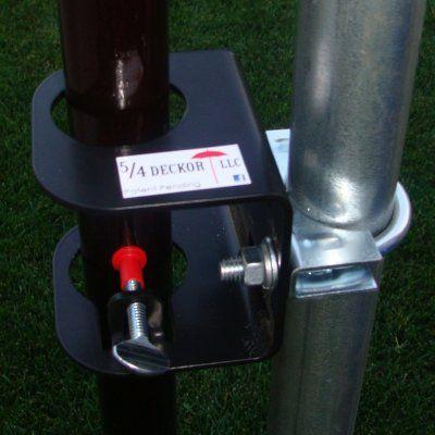 Deck/Dock Flag Pole Bracket with Optional Hardware - DECK007-5