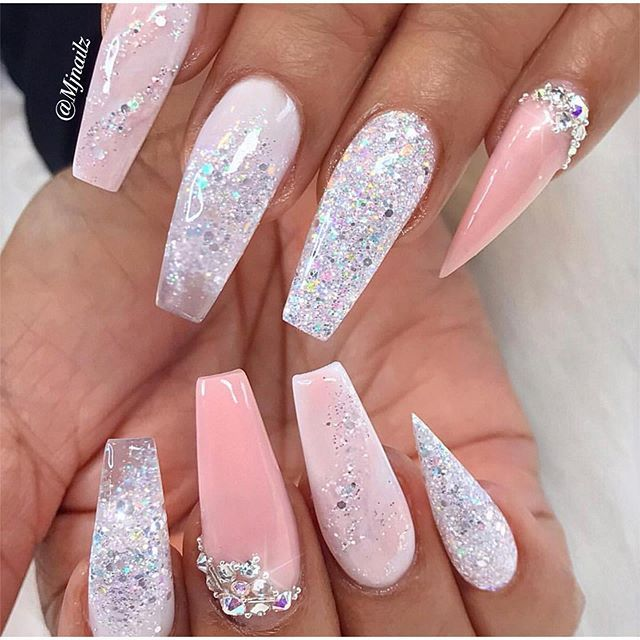Pin by dfields1 on Nails | Ballerina nails, Trendy nails
