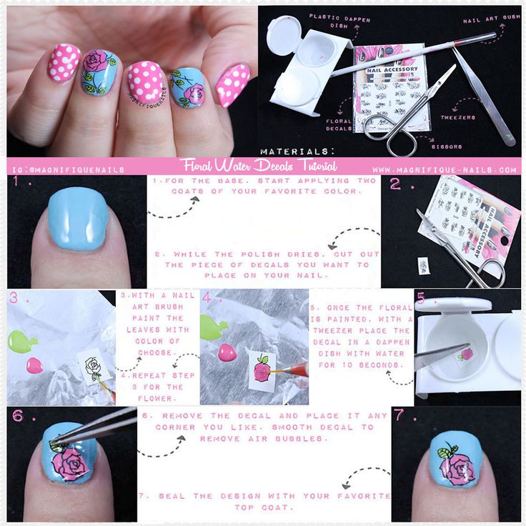 Floral Water Decals Tutorial  #bornprettystore #nails #nailart #mani #tutorial #diy  Use Coupon Code: ADBQ10 for 10% off!