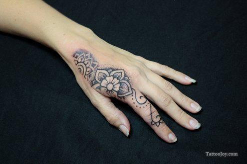 Flowers tattoo on the hand body canvas pinterest for Flower tattoos on hand